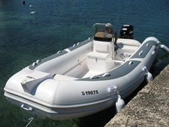 19ft MAXXON 580 WHITE Deluxe Rib + MERCURY 60Hp + Trailer